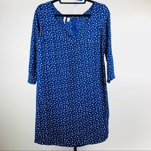 MNG by Mango Blue Heart Print Shift Dress